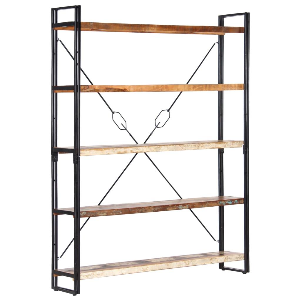 vidaXL Boekenkast met 5 schappen 140x30x180 cm massief gerecycled hout