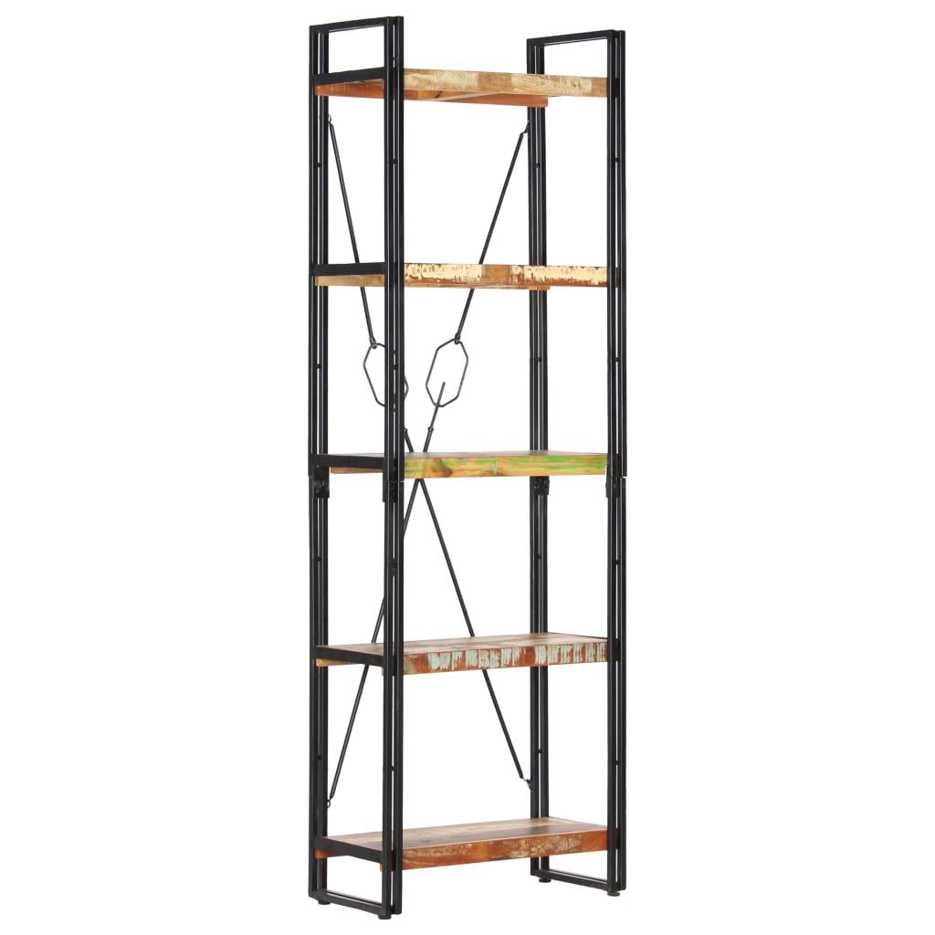 vidaXL Boekenkast met 5 schappen 60x30x180 cm massief gerecycled hout