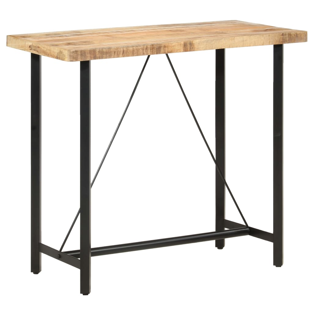 vidaXL Table de bar 120x58x107 cm Bois de manguier brut