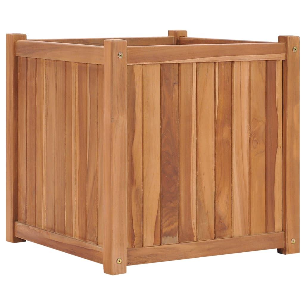 vidaXL Strat înălțat, 50 x 50 x 50 cm, lemn masiv de tec poza vidaxl.ro