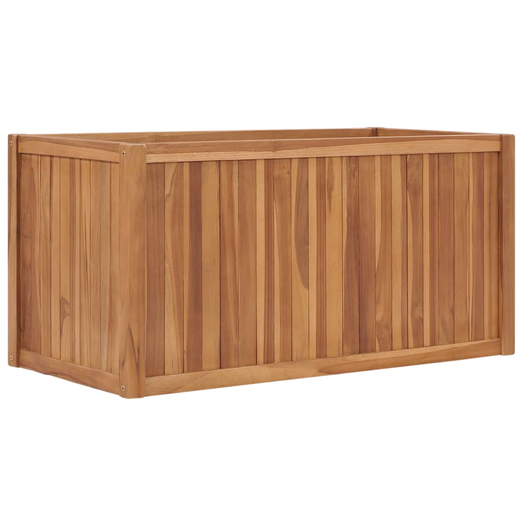 vidaXL Strat înălțat, 100 x 50 x 50 cm, lemn masiv de tec poza 2021 vidaXL