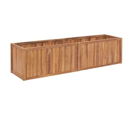 vidaXL Garden Raised Bed 200x50x50 cm Solid Teak Wood