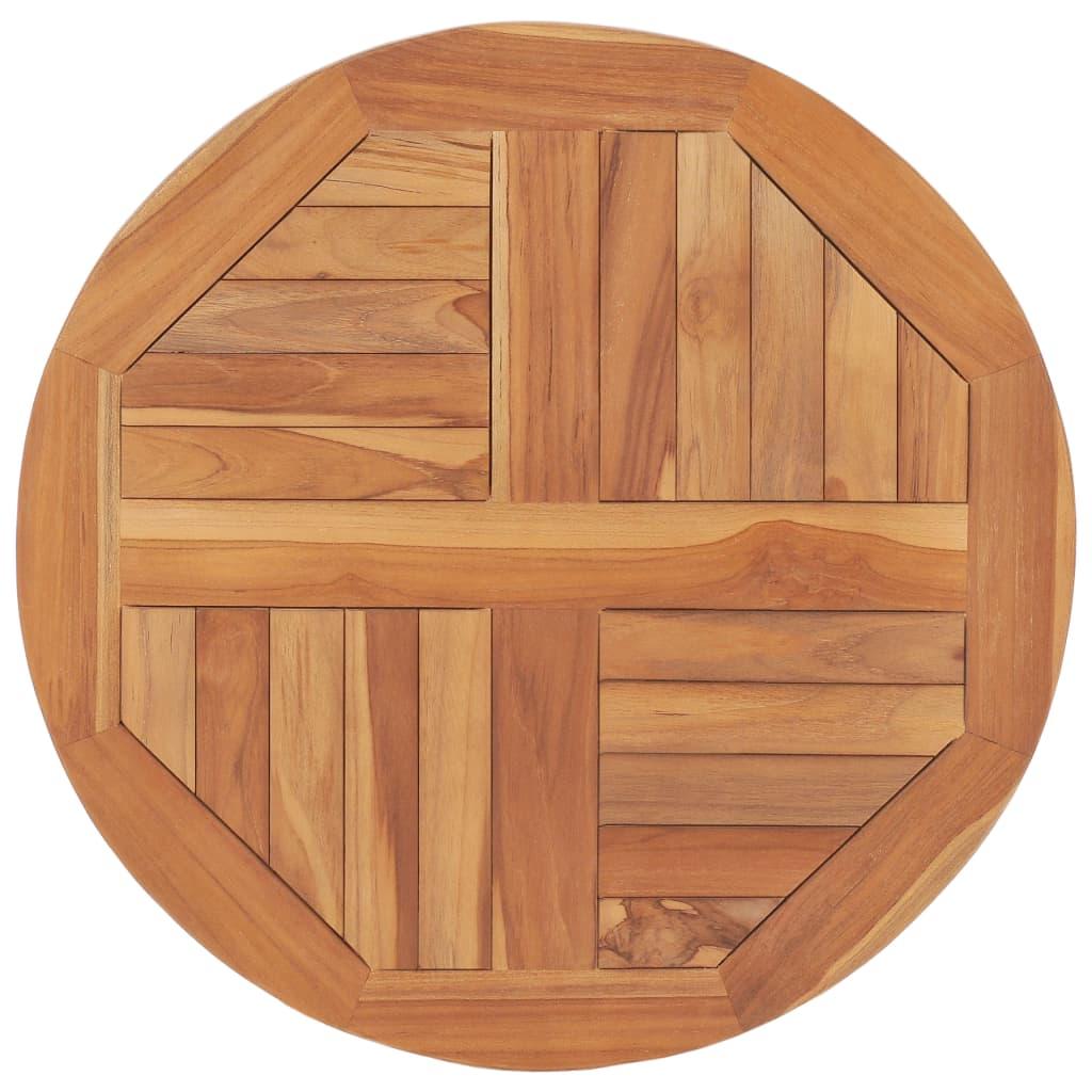vidaXL Blat de masă, 60 cm, lemn masiv de tec, rotund, 2,5 cm vidaxl.ro