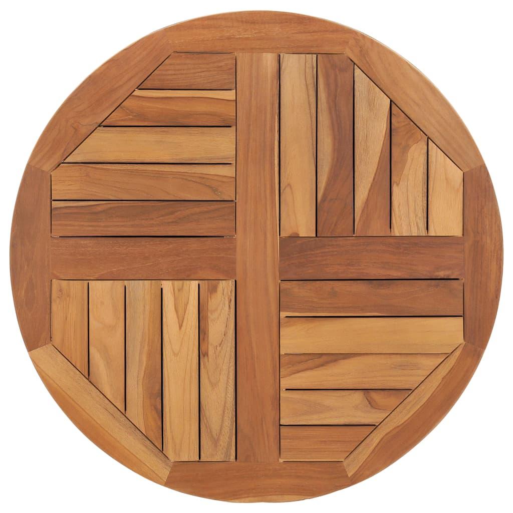 Stolní deska masivní teakové dřevo kulatá 2,5 cm 70 cm