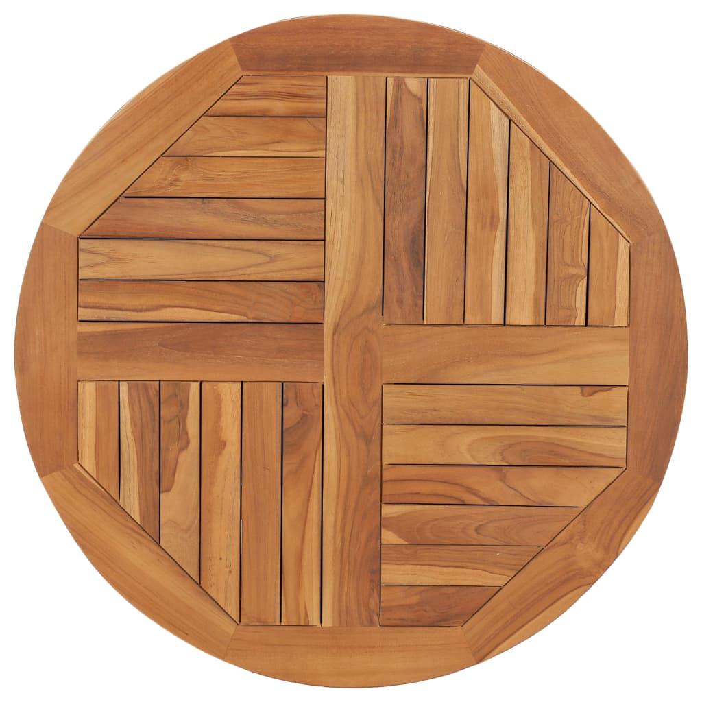 vidaXL Blat de masă rotund, 80 cm, lemn masiv de tec, 2,5 cm poza vidaxl.ro