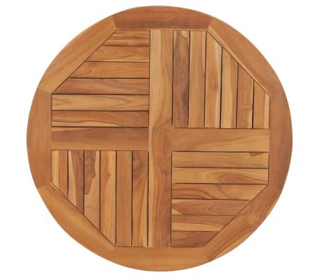 """vidaXL Table Top Solid Teak Wood Round 1"""" 31.5"""""""