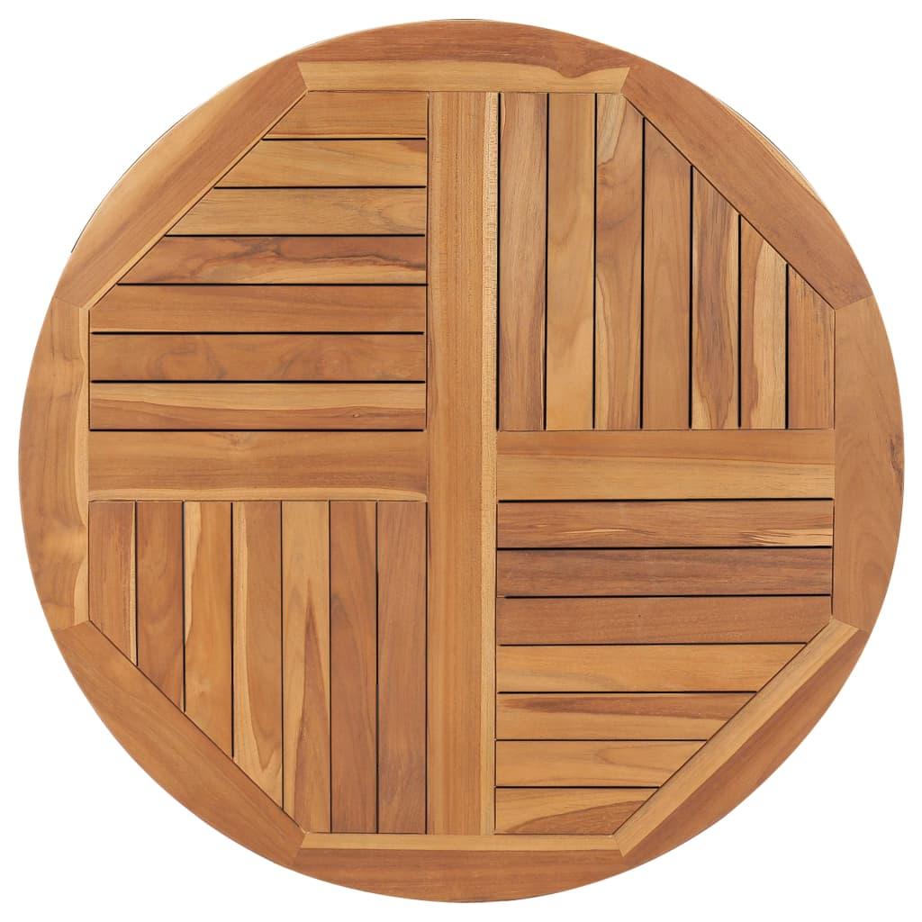 Stolní deska masivní teakové dřevo kulatá 2,5 cm 90 cm