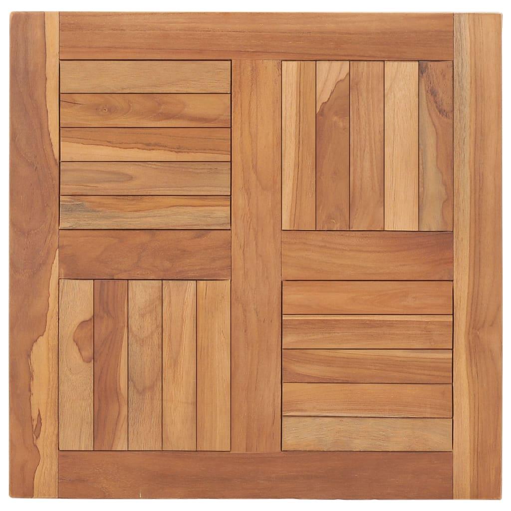 vidaXL Blat de masă, 60 x 60 x 2,5 cm, lemn masiv de tec imagine vidaxl.ro