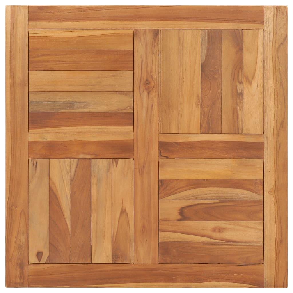 Stolní deska masivní teakové dřevo 70 x 70 x 2,5 cm