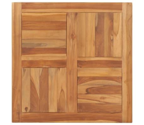 vidaXL Piano del Tavolo Legno Massello di Rovere Quadrato 23mm 70x70cm Ripiano