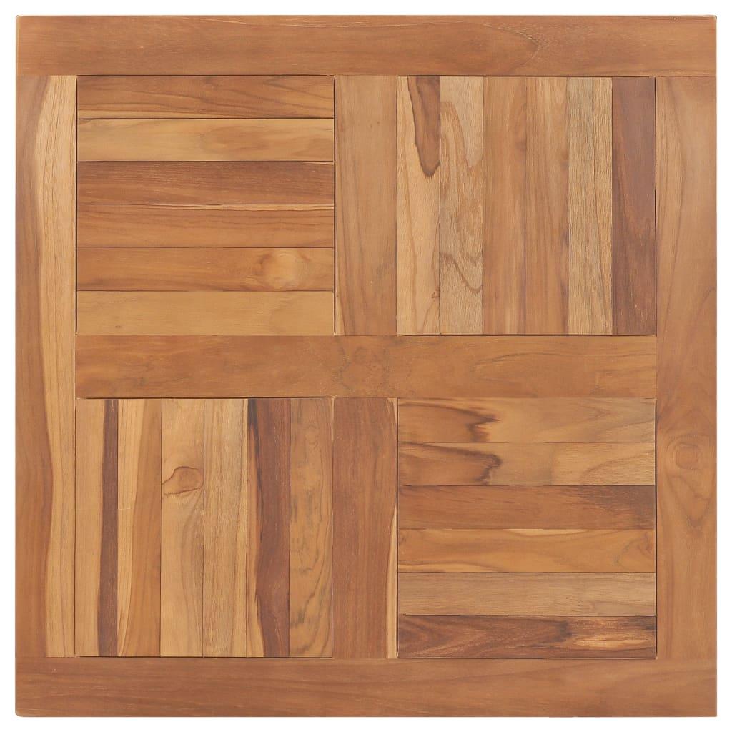 Stolní deska masivní teakové dřevo čtvercová 80 x 80 x 2,5 cm