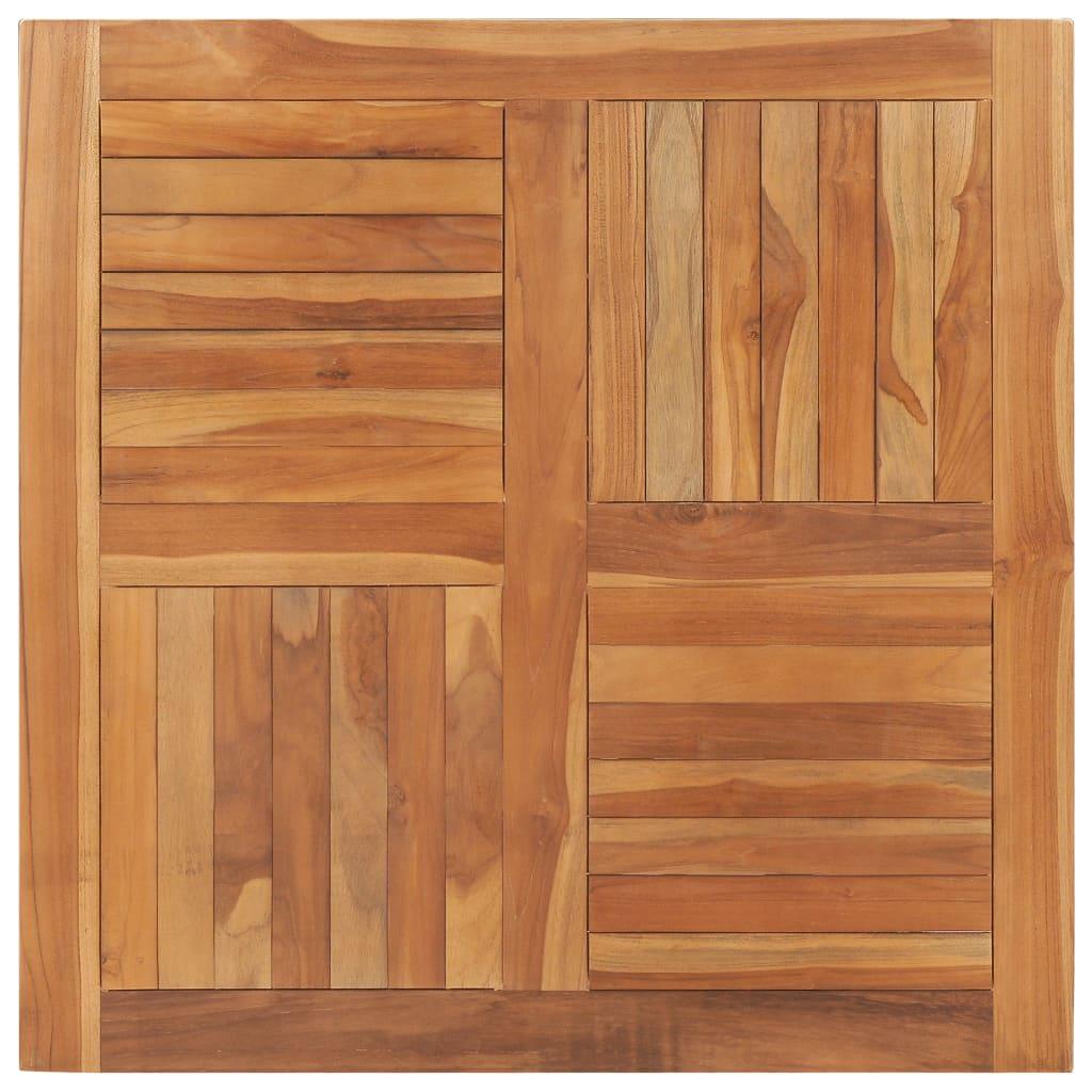 Stolní deska masivní teakové dřevo čtvercová 90 x 90 x 2,5 cm