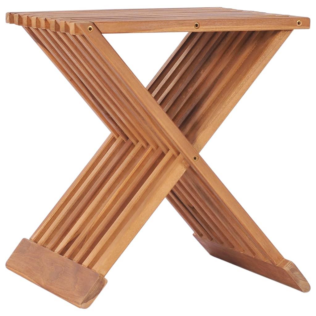 Skládací stolička 40 x 32 x 45 cm masivní teakové dřevo