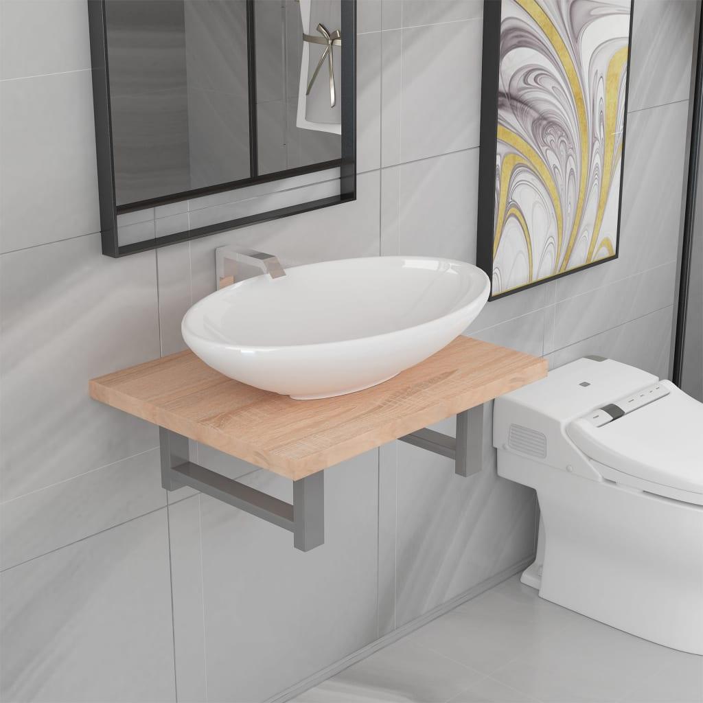 vidaXL Set mobilier de baie din două piese poza 2021 vidaXL