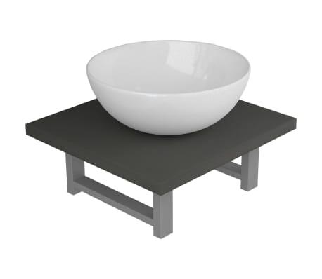 vidaXL Set mobilier de baie, 2 piese, gri, ceramică