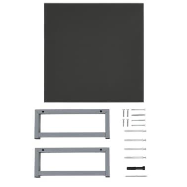 vidaXL Vonios kambario baldų komplektas, 2d., pilkas, keramika[11/14]