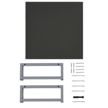 vidaXL Vonios kambario baldų komplektas, 2d., pilkas, keramika[10/13]