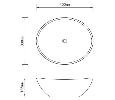 vidaXL Vonios kambario baldų komplektas, 2d., juodas, keramika[14/14]