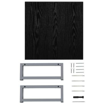 vidaXL Vonios kambario baldų komplektas, 2d., juodas, keramika[11/14]