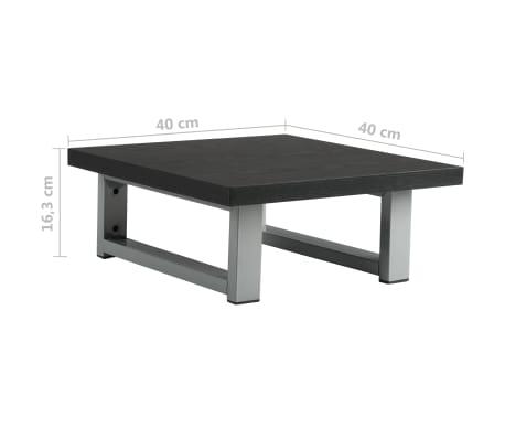 vidaXL Vonios kambario baldų komplektas, 2d., juodas, keramika[13/14]
