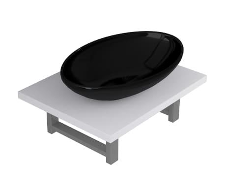 vidaXL Set mobilier de baie, 2 piese, alb, ceramică