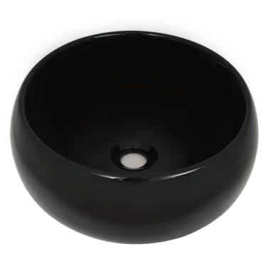 vidaXL Vonios kambario baldų komplektas, 2d., baltas, keramika[4/13]