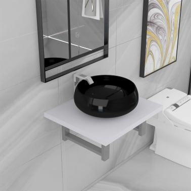 vidaXL Vonios kambario baldų komplektas, 2d., baltas, keramika[1/13]