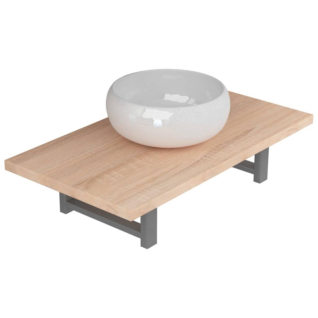 Etagere Pour Vasque A Poser vidaxl lavabo de salle de bain avec etagère murale céramique vasque à poser    ebay