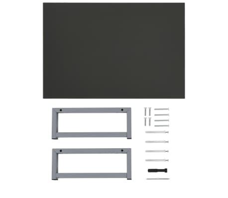vidaXL Vonios kambario baldų komplektas, 2d., pilkas, keramika[13/16]