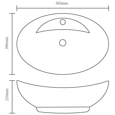 vidaXL Vonios kambario baldų komplektas, 2d., pilkas, keramika[16/16]