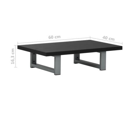 vidaXL Vonios kambario baldų komplektas, 2d., juodas, keramika[14/15]