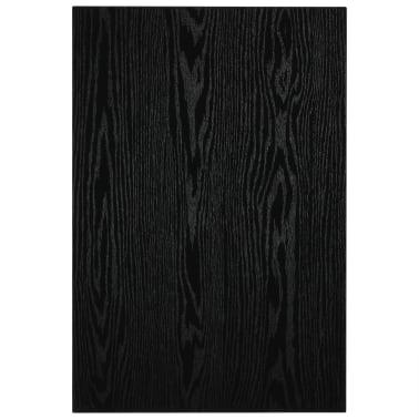 vidaXL Vonios kambario baldų komplektas, 2d., juodas, keramika[7/15]
