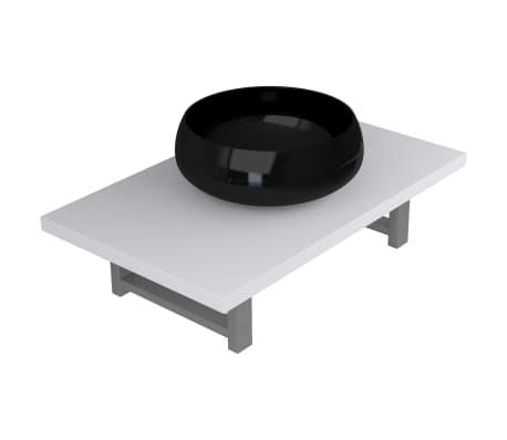 vidaXL Dvodelni komplet kopalniškega pohištva iz keramike bel