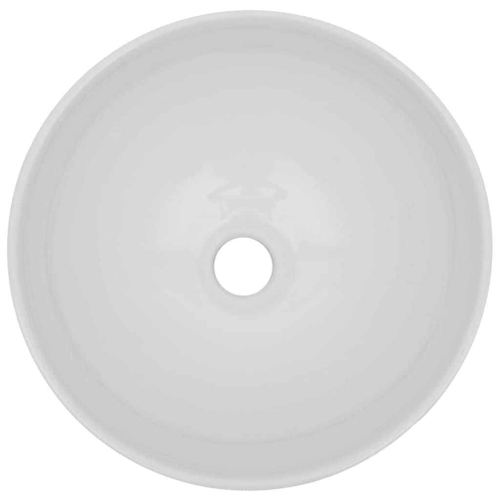 vidaXL 3-delige Badkamermeubelset keramiek eikenkleurig