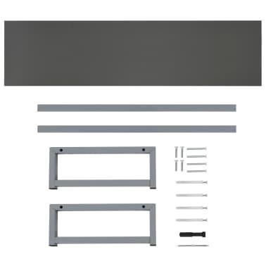 vidaXL Vonios kambario baldų komplektas, 3d., pilkas, keramika[13/13]