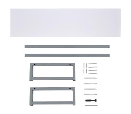 vidaXL Tridelni komplet kopalniškega pohištva iz keramike bel[13/15]