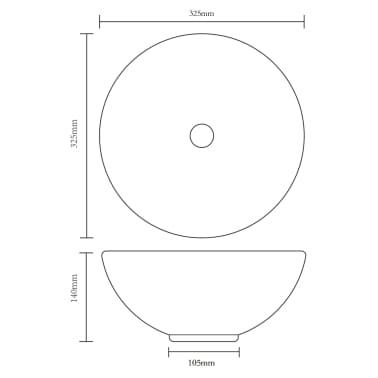 vidaXL Tridelni komplet kopalniškega pohištva iz keramike bel[15/15]