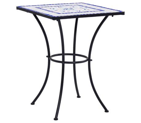 vidaXL Mobilier de bistro 3 pcs mosaïque Carreau céramique Bleu Blanc[2/13]