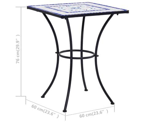 vidaXL Mobilier de bistro 3 pcs mosaïque Carreau céramique Bleu Blanc[12/13]