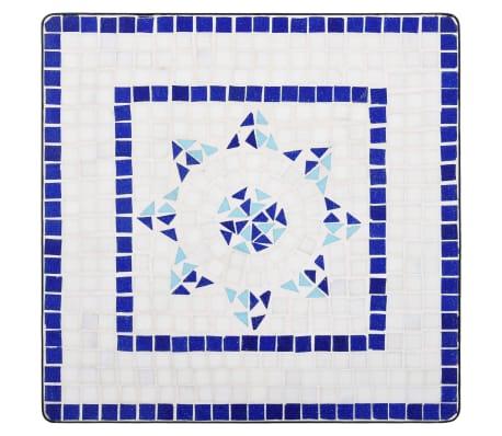 vidaXL Mobilier de bistro 3 pcs mosaïque Carreau céramique Bleu Blanc[4/13]