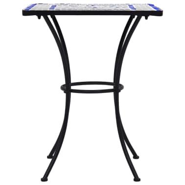 vidaXL Mobilier de bistro 3 pcs mosaïque Carreau céramique Bleu Blanc[5/13]