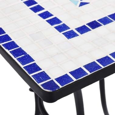 vidaXL Mobilier de bistro 3 pcs mosaïque Carreau céramique Bleu Blanc[10/13]