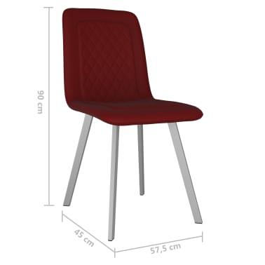 vidaXL Esszimmerstühle 6 Stk. Rot Samt |
