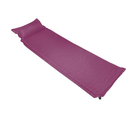 vidaXL rózsaszín felfújható matrac párnával 66 x 200 cm