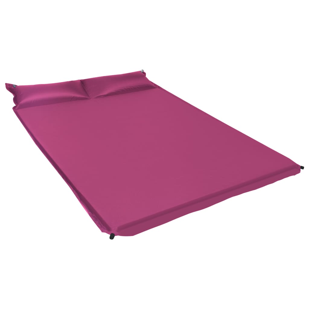 vidaXL Saltea gonflabilă cu pernă, roz, 130 x 190 cm poza 2021 vidaXL