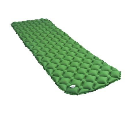 vidaXL Luchtmatras opblaasbaar 58x190 cm groen