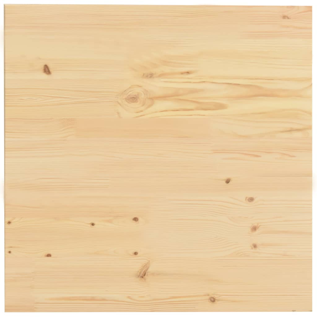 vidaXL Ploča za stol od prirodne borovine četvrtasta 50 x 50 x 2,5 cm