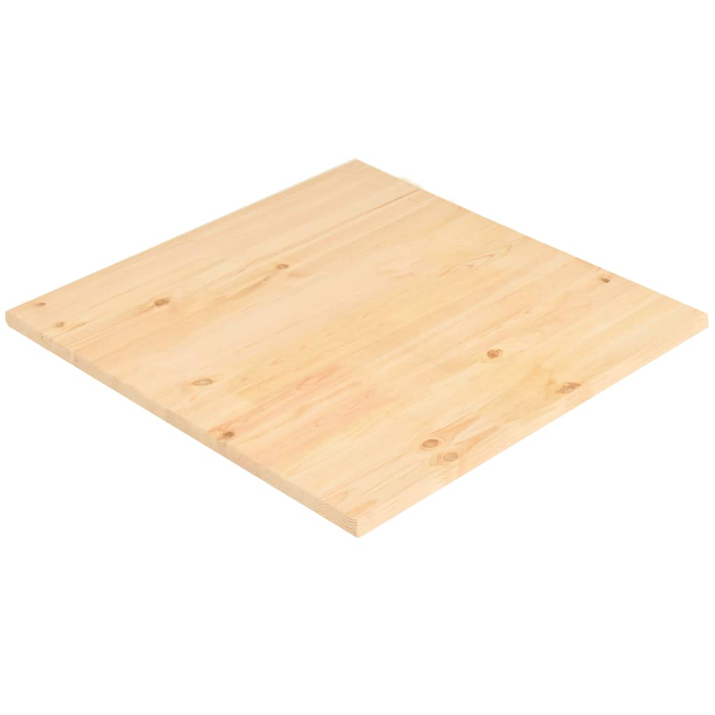 vidaXL Tafelblad vierkant 80x80x2,5 cm natuurlijk grenenhout