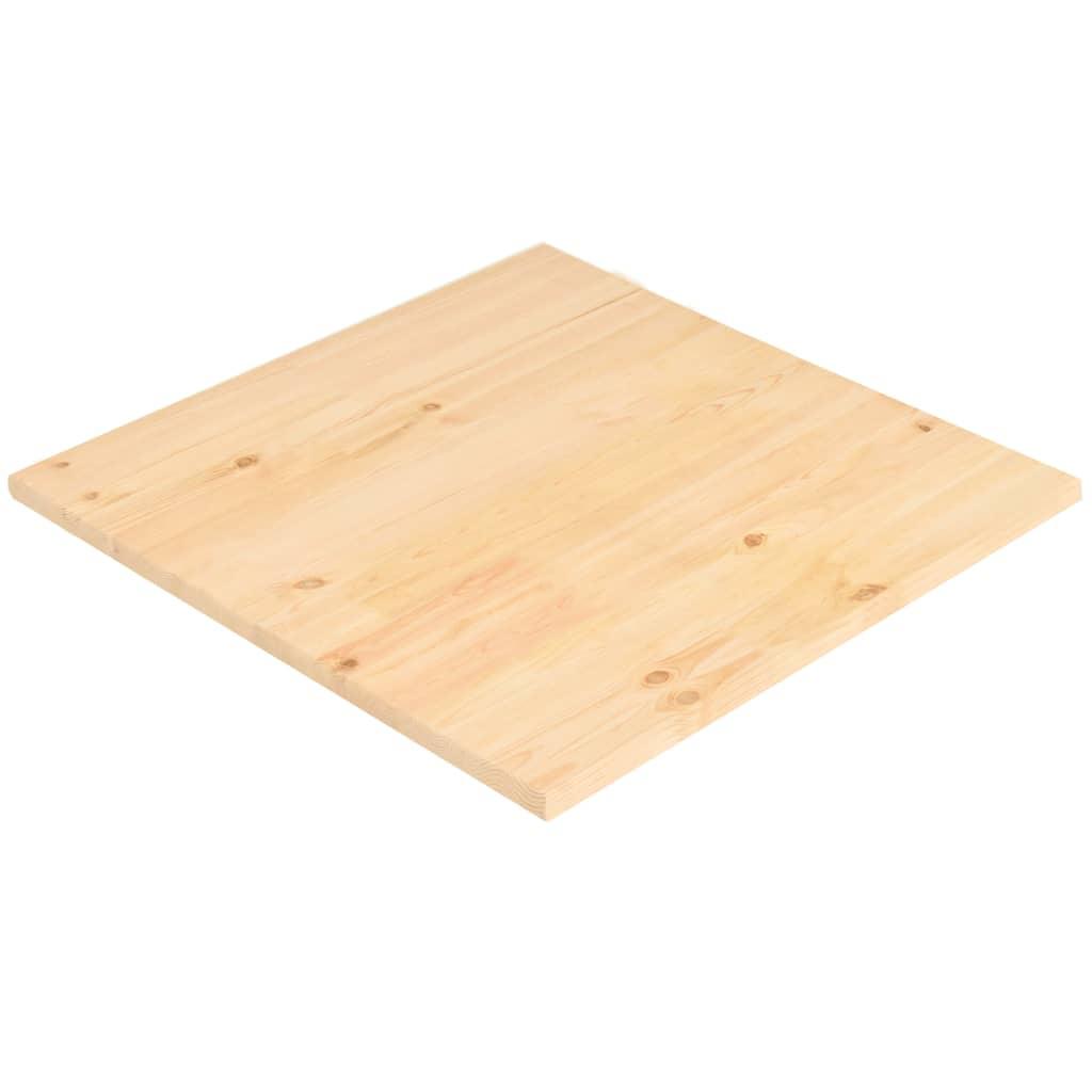 vidaXL Blat de masă, 80 x 80 x 2,5 cm, pătrat, lemn de pin natural poza 2021 vidaXL