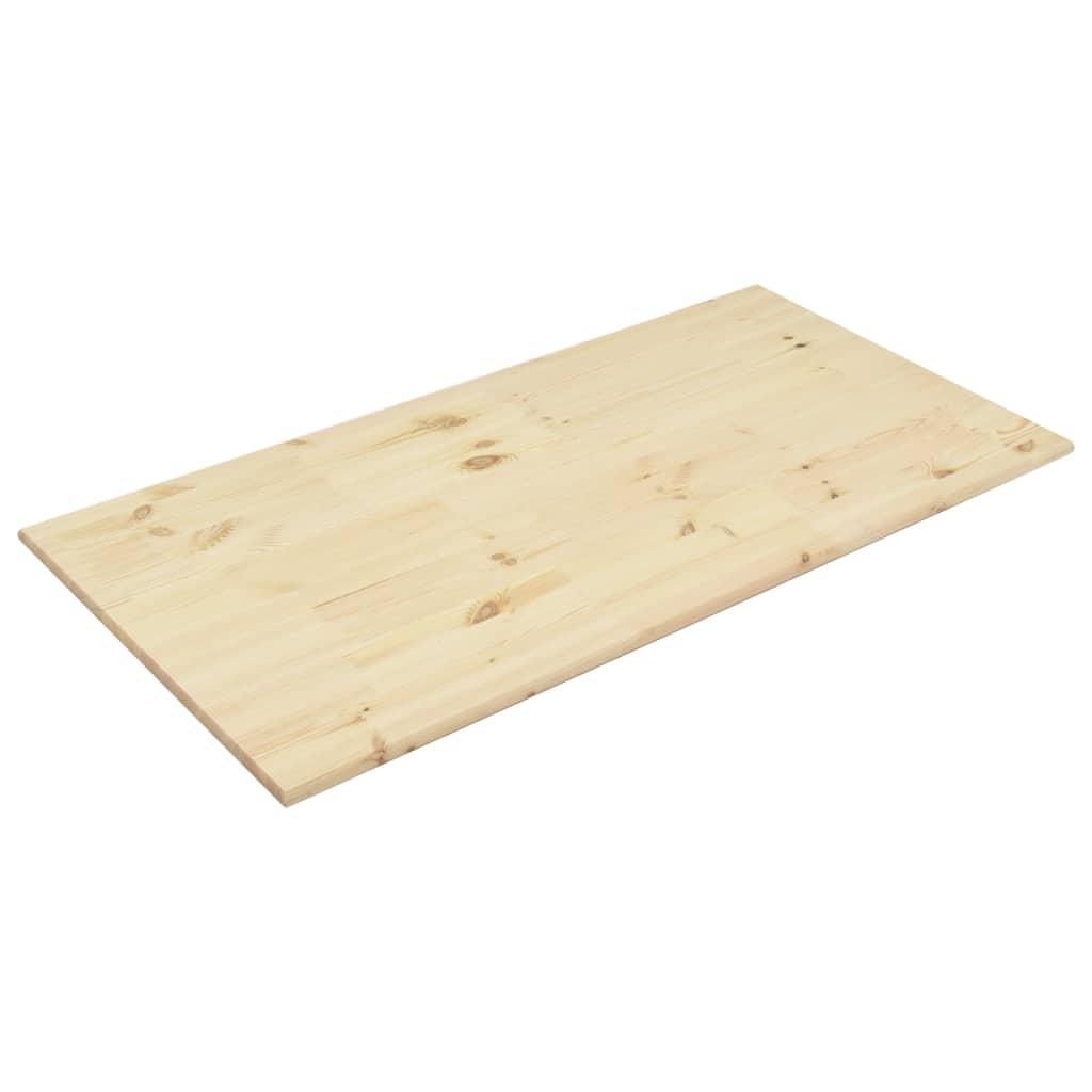 vidaXL Blat de masă, 120x60x2,5cm, lemn de pin natural, dreptunghiular poza vidaxl.ro